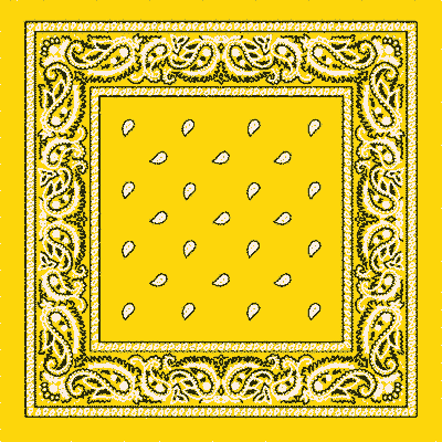 Sunshine Yellow Paisley Bandana