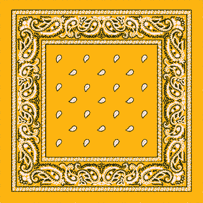 Golden Yellow Paisley Bandana