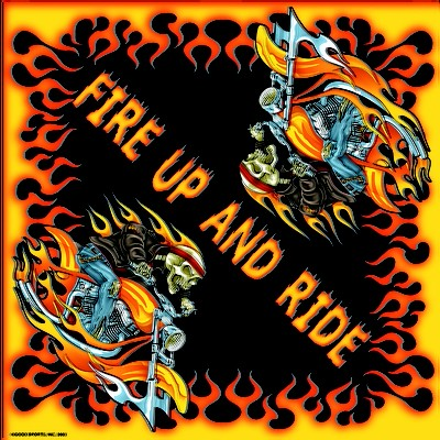 Fire Up And Ride Bandana