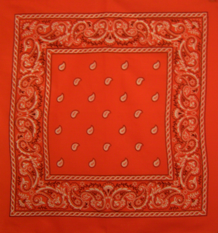 Orange Twist Paisley Bandana