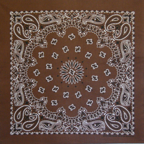 Coco Brown US Paisley Bandana