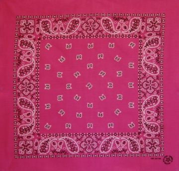 Hot Pink Cross US Paisley