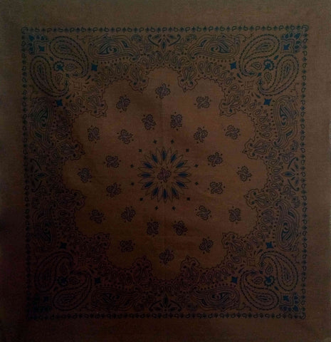 Large Coco Brown Paisley Bandana