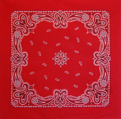 Pillarbox Red Vintage Style Paisley