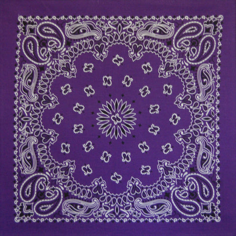 Purple US Paisley Bandana