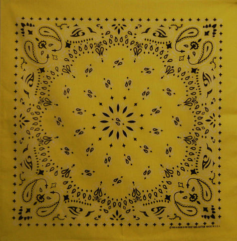 Sunshine Yellow US Paisley Bandana
