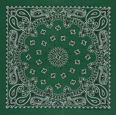 Forest Green US Paisley Bandana