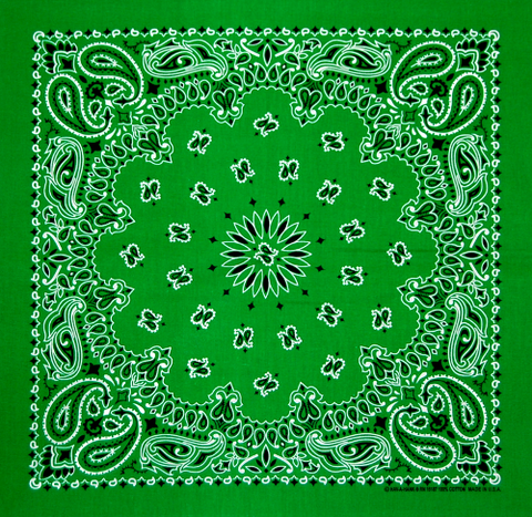 Leaf Green US Paisley Bandana