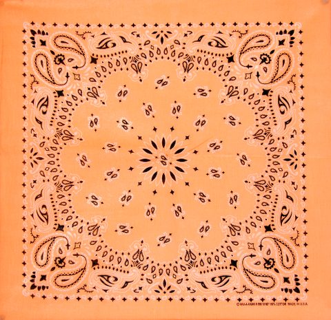 Light Peach US Paisley Bandana