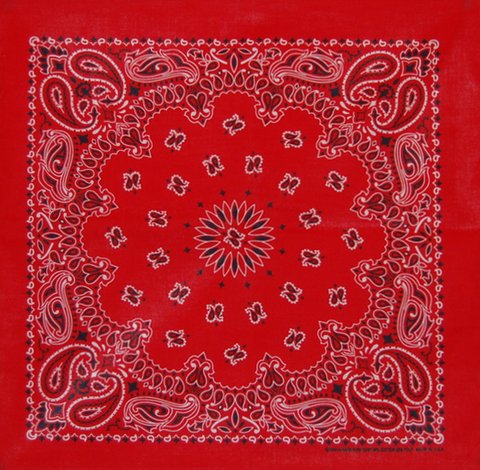 Super Sized Pillarbox Red US Paisley Bandana