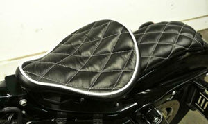 07-09 Sportster Harley Spring Solo Seat Mounting Kit Passenger Blk Diamond 11x13 - Mother Road Customs