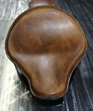 "07-09 Sportster Harley Nightster Seat, Seat Conversion Kit, 12x13"" Brown Dis Pad - Mother Road Customs"