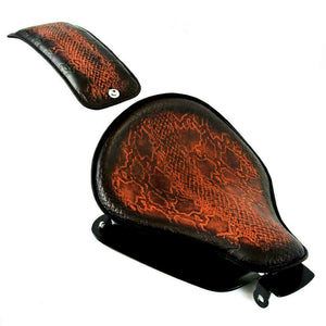 2010-2020 Harley Sportster Seat Conversion Kit P-Pad Ant Brown Snake Python bcs - Mother Road Customs