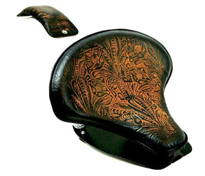 2015-2020 Indian Scout Spring Tractor Seat Ant Brn Tooled Mounting Kit Pad cs - Mother Road Customs
