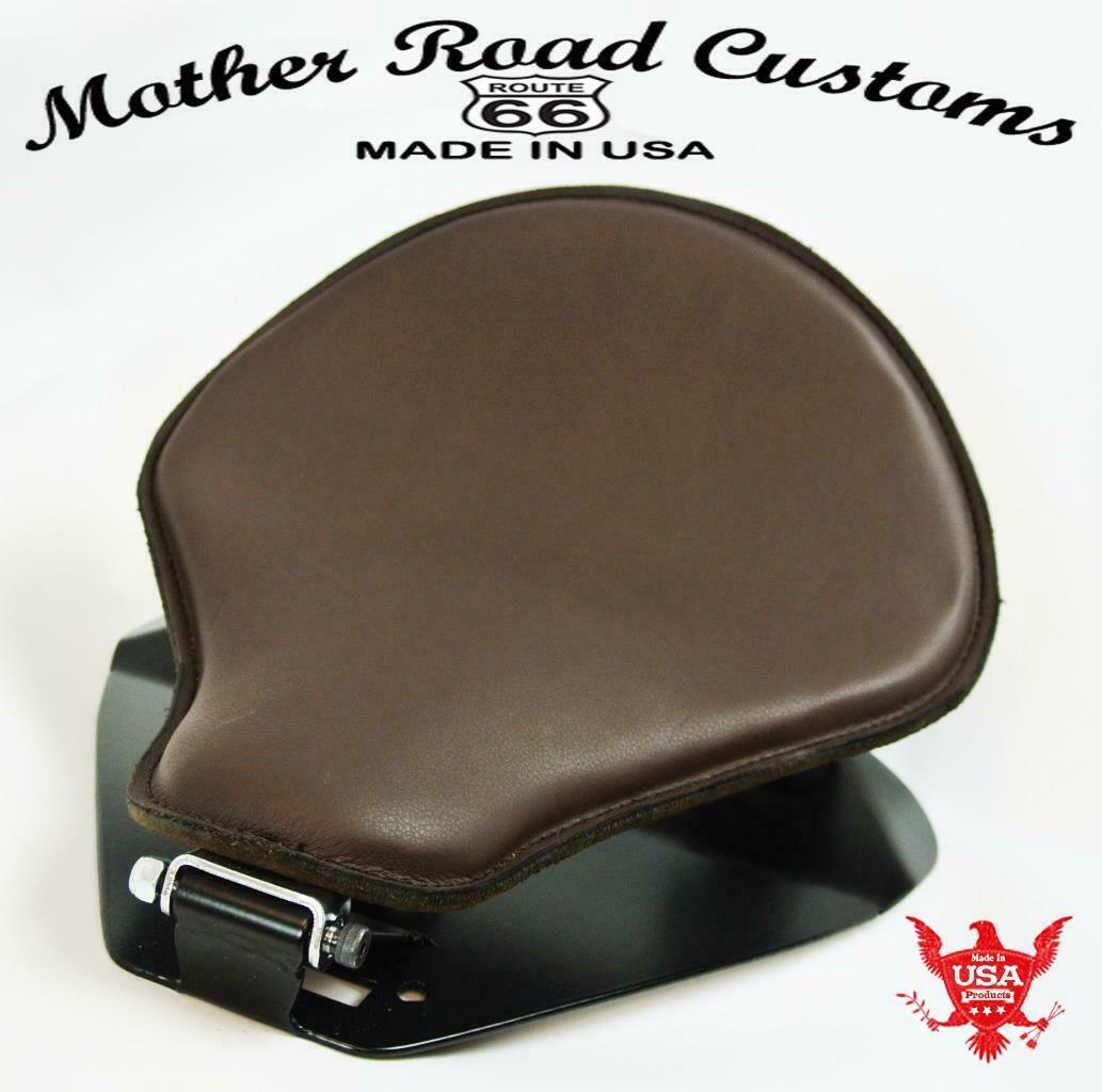 1998-2020 Yamaha V Star 650 Spring Brown Pleater Leather Seat Mounting Kit bc - Mother Road Customs