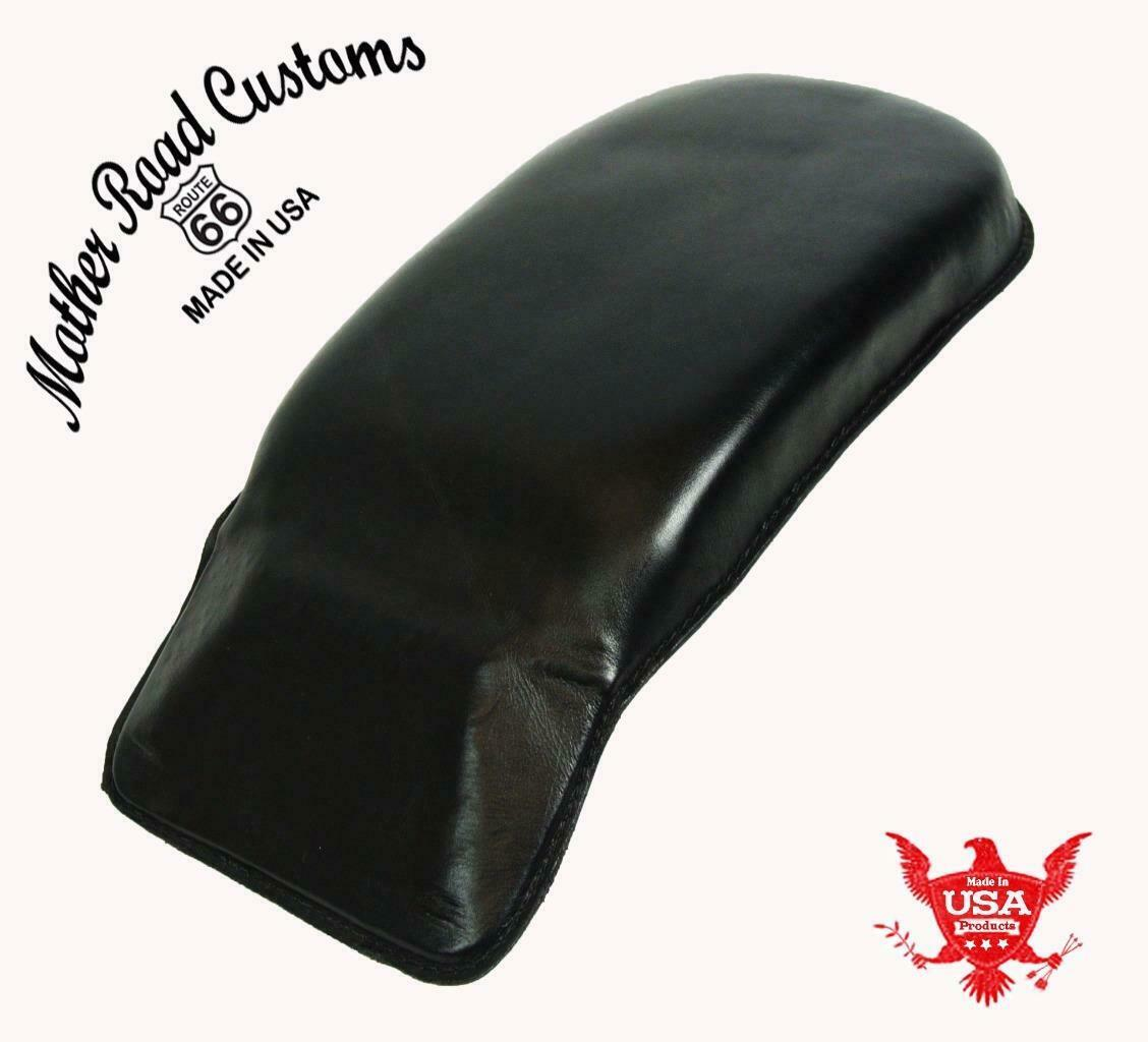 1998-2020 Passenger Pad Harley Touring Black Leather Fits All Models MRC - Mother Road Customs