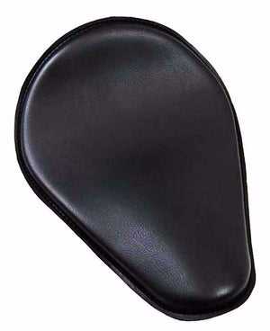 Spring Solo Seat Chopper Harley Sportster Honda Yamaha 10x13 Black Leather Frame