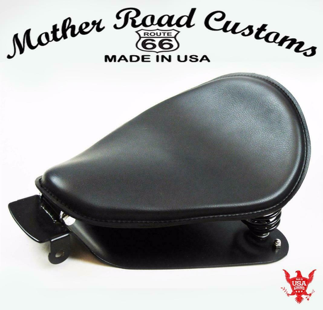 "2010-2020 Sportster Spring Solo Seat Mounting Kit 10x13"" Black Leather USA pccs"