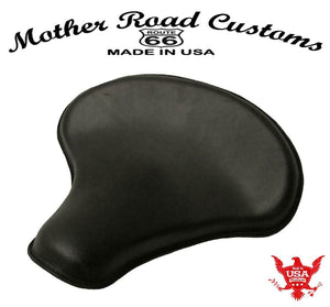 "Spring Solo Seat Chopper Bobber Harley Sportster 15x14"" Tractor Black Leather"