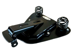 2004-2006 Harley Sportster Spring Seat Blk Dis Leather Rivets Mount Kit bcs - Mother Road Customs