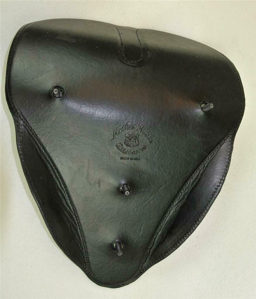 SPRING SEAT CHOPPER BOBBER HARLEY SPORTSTER 11x14  Board Track Leather - Mother Road Customs
