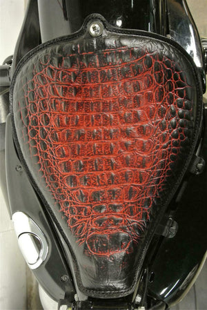 On The Frame Seat Harley Sportster 2010-2020 Antique Red Alligator All Models 48 - Mother Road Customs