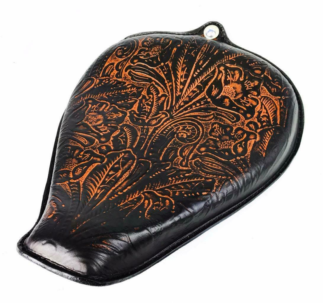 2010-2020 Sportster Harley On The Frame Seat Ant Brown Tooled Leather All Models