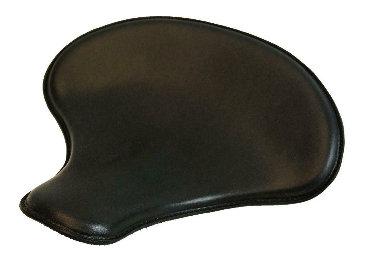 "Spring Solo Tractor Seat Chopper Bobber Harley Sportster 15x14"" Black Leather - Mother Road Customs"