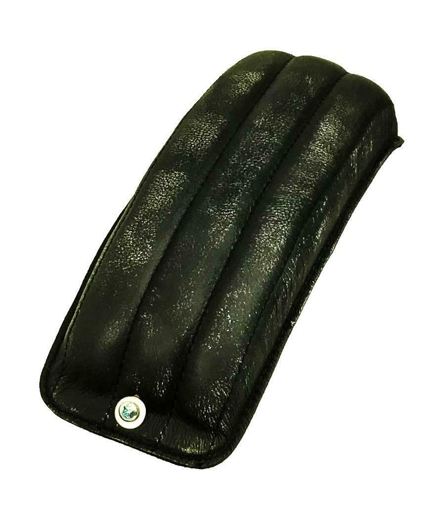 2010-2020 Harley Sportster Seat Passenger Black Distress Leather Tuck Roll P-Pad - Mother Road Customs