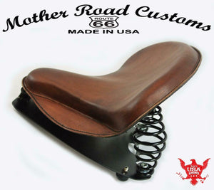 2015-2020 Indian Scout Spring Tractor Seat Brown Skirt Leather Mounting Kit bc - Mother Road Customs