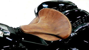 "Spring Seat Harley Touring Indian Chief Solo Tractor 17x16"" Brn Dis Veg Leather"