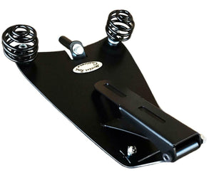 1982-2003 Sportster Spring Seat Solo Harley Blk Tuck Roll Leather Mount Kit bcs - Mother Road Customs