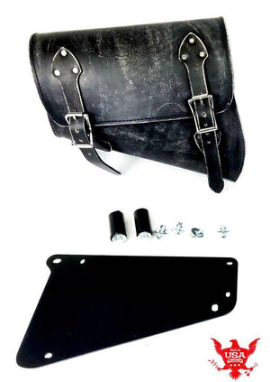 2018-20 Indian Scout Bobber Saddle Bag With Mounting Hardware Black Dist Leather - Mother Road Customs