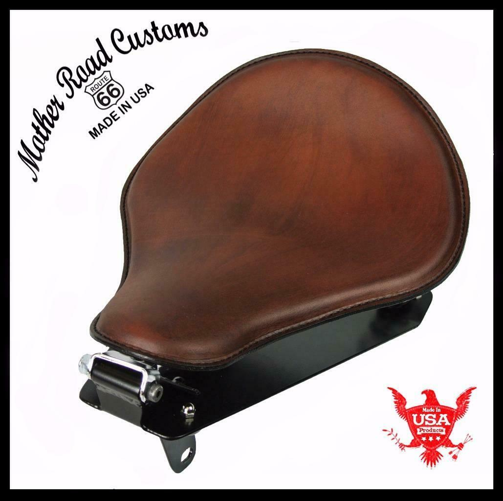 2014-2020 Yamaha Bolt R-Spec Spring Solo Seat Brown Leather Conversion Kit  bcs