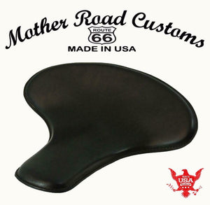 "Spring Solo Tractor Seat Harley Touring Indian Chief 17x16"" Black Distress Veg - Mother Road Customs"