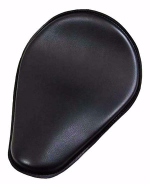 11x14 Blk Pleather Spring Solo Seat Chopper Harley Sportster Honda Yamaha Frame - Mother Road Customs