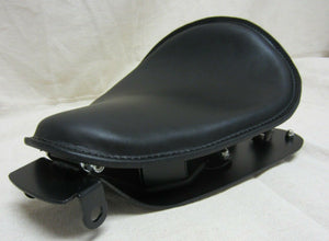 2004-2006 Harley Sportster Seat Rigid Mounting Kit Fits All Models Black Leather - Mother Road Customs