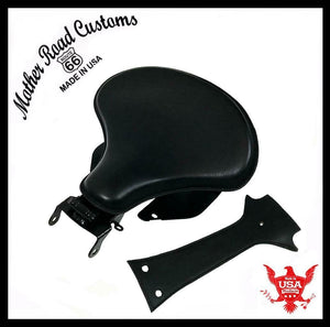 2018-20 Harley Softail Spring Seat Tank Bib Conversion Mounting Kit 15x14 Black - Mother Road Customs