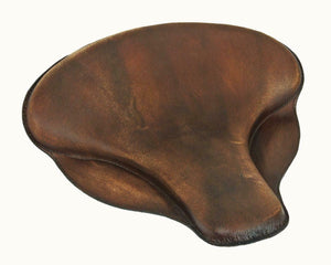 "Spring Solo Tractor Seat Harley Touring Indian Chief 17x16"" Soft Brown Distres - Mother Road Customs"