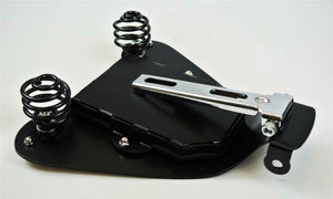 2004-2006 Sportster Harley Spring Solo Seat Mount Kit Brn Dis Tooled Leather bcs - Mother Road Customs