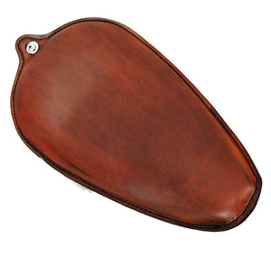 1982-2003 Harley Sportster Seat Smooth Brown Leather On The Frame Made In USA - Mother Road Customs