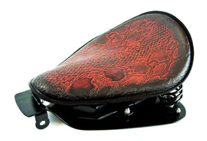 2004-2006 Sportster Harley Spring Seat Conversion Kit Ant Red Snake Python   bcs - Mother Road Customs
