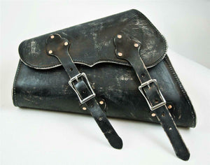 Sportster Saddle Bag 1982-2020 Black Distress Made In USA! Chopper Harley Seat - Mother Road Customs