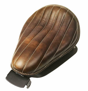 2004-2006 Harley Sportster Spring Solo Seat Chopper Brown Dist Tuck Roll Leather - Mother Road Customs