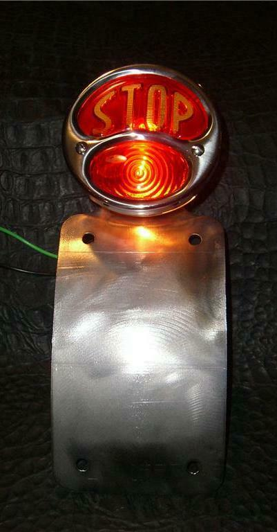 Radius  Model A Tail light License  Plate Chopper Harley Bobber Sportster Seat - Mother Road Customs