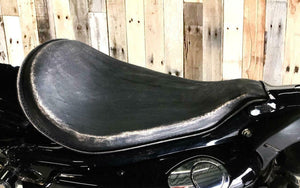2010-2020 Sportster Harley On The Frame Seat Blk Dist Leather Roll Up All Models