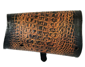 2015-2020 Indian Scout Bobber Swing Arm Saddle Bag Ant Brown Gator Leather MRC - Mother Road Customs