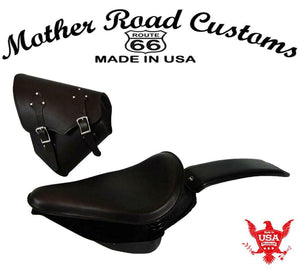 2000-2017 Harley Softail Spring Seat Pad Mounting Kit Saddle Bag Blk Leather  bs - Mother Road Customs