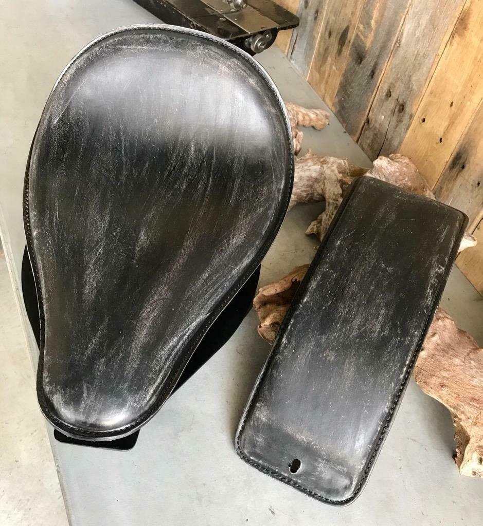 2000-2017 Harley Davidson Softail Spring Seat Pad Mounting Kit BlkDis Leather bc - Mother Road Customs