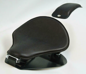 1998-2020 Yamaha V Star 650 Spring Black Leather Solo Seat P-Pad Mounting Kit bc - Mother Road Customs